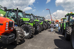 35° Fiera Agricola di Treviglio. 35° Agricultural fair in Treviglio (BG), Lombardy, Italy. With tractors, cattle and many more Stock Image
