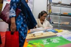 Fiera del libro di Calcutta, il Bengala Occidentale, India fotografia stock libera da diritti