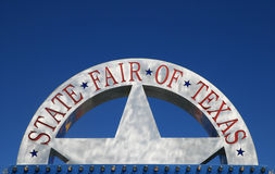 Fiera della condizione del segno del Texas immagini stock