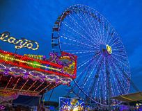 Fiera Ferris Wheel della contea Immagine Stock
