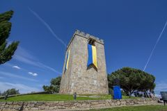 Fiera medievale al castello di Pinhel nel distretto di Guarda, Po Fotografia Stock