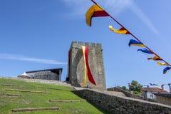 Fiera medievale al castello di Pinhel nel distretto di Guarda, Po Fotografie Stock Libere da Diritti