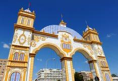 Fiera a Siviglia, festività in Spagna fotografie stock
