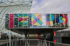 Fieramilano building with sign Expo Stock Image