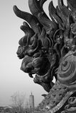 Fierce beast sculpture Royalty Free Stock Images