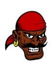 Fierce dark-skinned cartoon pirate character Royalty Free Stock Photo