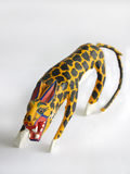 Fierce Jaguar Alebrije. Alebrijes are wooden toys handmade and handpainted that depict the real or fantasy animals that populate de folk stories and legends of stock photography