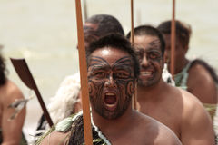 Fierce Maori warrior Stock Photo