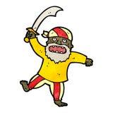 Fierce pirate cartoon Royalty Free Stock Image