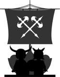 Fierce Viking and Ship Royalty Free Stock Photo