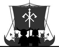 Fierce Viking and Ship Royalty Free Stock Photos