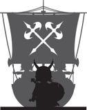Fierce Vikings and Ship Stock Photos