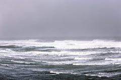 Fierce winter Atlantic ocean. Powerful winter storm on Atlantic ocean in Morocco stock photography