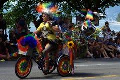 Fierté colorée, défilé de fierté de Vancouver Photos stock