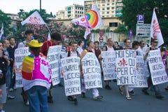 fierté d'homosexuel de 2009 drapeaux Photo libre de droits