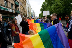Fierté d'homosexuel de Riga Photographie stock libre de droits