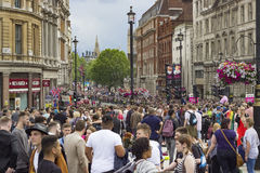 Fierté dans le défilé gai de Londres Photographie stock