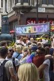 Fierté dans le défilé gai de Londres Images libres de droits