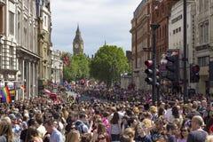 Fierté dans le défilé gai de Londres Photographie stock libre de droits