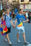 fierté de 2009 homosexuels de couples Images stock