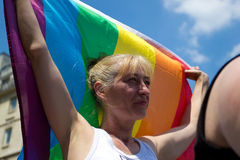 Fierté de 2010 homosexuels à Paris France Photo libre de droits