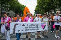 Fierté de 2010 homosexuels à Paris France photographie stock libre de droits
