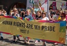 Fierté de Helsinki, 2 juillet 2010, Helsinki Finlande Images libres de droits