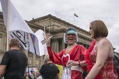 Fierté 2017 de Liverpool Images libres de droits