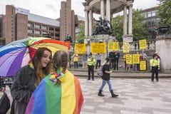 Fierté de Liverpool - l'amour n'est aucun crime Photos libres de droits