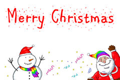 Fierté de Santa Claus Snowman Merry Christmas Gay Photo libre de droits
