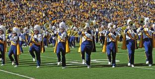 Fierté de WVU de fanfare de la Virginie Occidentale Images libres de droits