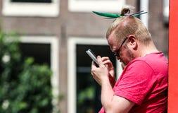 Fierté gaie 2015 d'Amsterdam Photo libre de droits