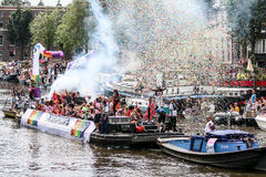Fierté gaie 2015 d'Amsterdam Photographie stock libre de droits