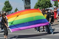 Fierté homosexuelle 2011, Genève, commutateur Photos stock