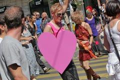 Fierté homosexuelle 2011, Genève, Suisse Photos libres de droits