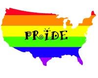 Fierté homosexuelle aux USA Photographie stock libre de droits
