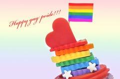 Fierté homosexuelle heureuse Photographie stock libre de droits