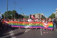 Fierté homosexuelle Madrid le juillet 2008 Image libre de droits