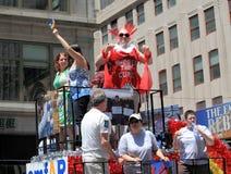 Fierté mars de NYC le 28 juin 2009 Image libre de droits