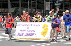 Fierté mars de NYC le 28 juin 2009 Image stock
