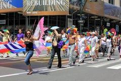 Fierté mars de NYC le 28 juin 2009 Photo libre de droits