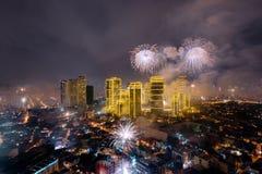Fierworks em Manila Imagens de Stock Royalty Free