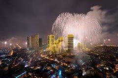 Fierworks em Manila Imagem de Stock Royalty Free
