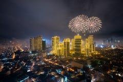 Fierworks em Manila Imagem de Stock