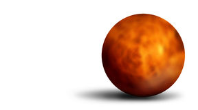Fiery 3D ball. Fiery orange 3D ball on white background Royalty Free Stock Photos