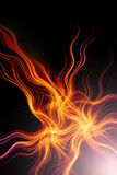 Fiery abstract background. 3d render - fiery abstract background Royalty Free Stock Images