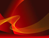 Fiery abstract background. An abstract illustrated background of artistic red and yellow wavy bands resembling bright, fiery flames Royalty Free Stock Photos