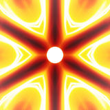 Fiery Abstract Vortex Stock Image