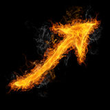 Fiery Arrow Stock Images