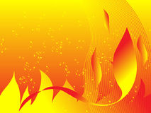 Fiery Background. Illustration fiery flame background in yellow and orange Stock Photo
